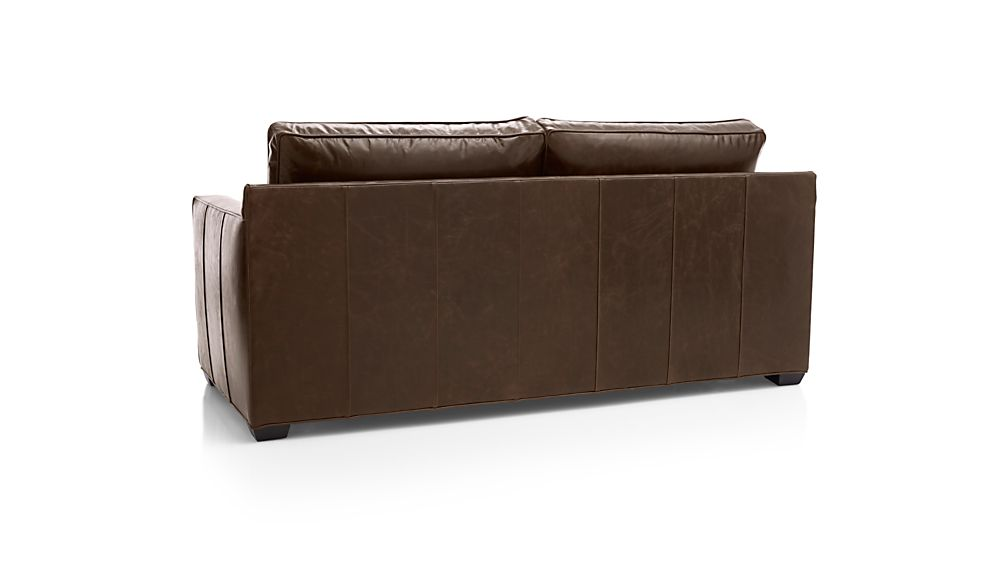 Davis Leather Right Arm Full Sleeper Sofa