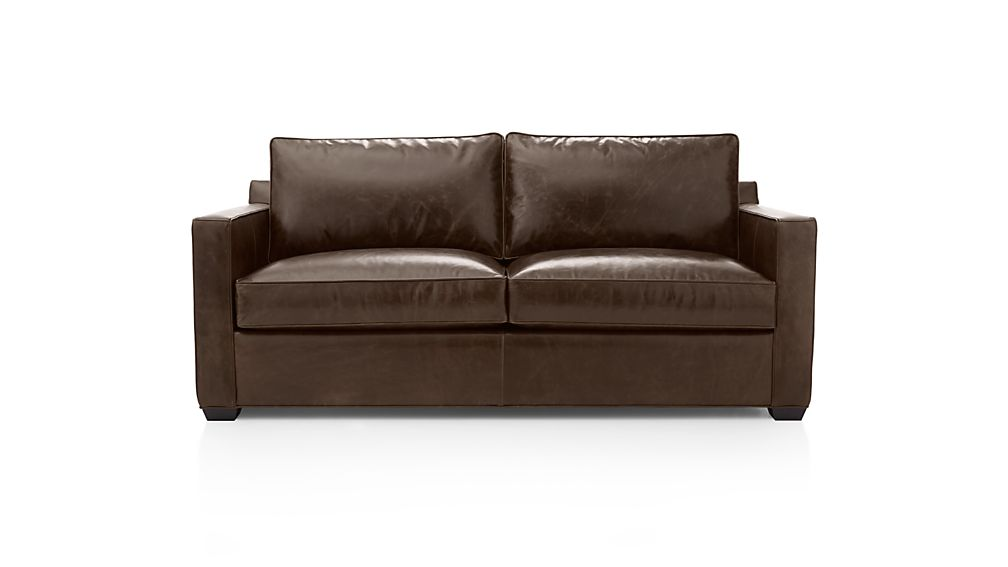 Davis Leather Queen Sleeper Sofa with Air Mattress Libby  : DavisLthrSofaQSLCshwS15 from www.crateandbarrel.com size 1008 x 567 jpeg 23kB