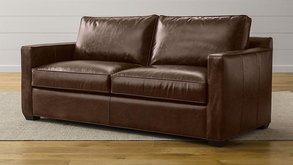 Davis Leather Queen Sleeper Sofa with Air Mattress Libby