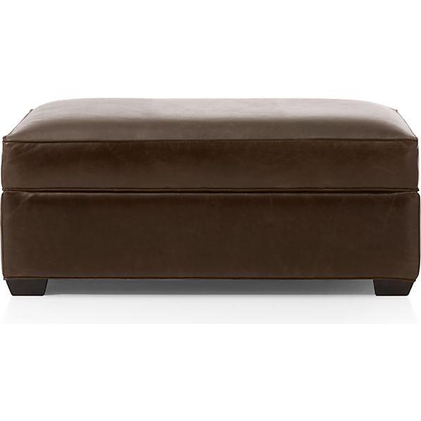 Davis Leather Storage Ottoman