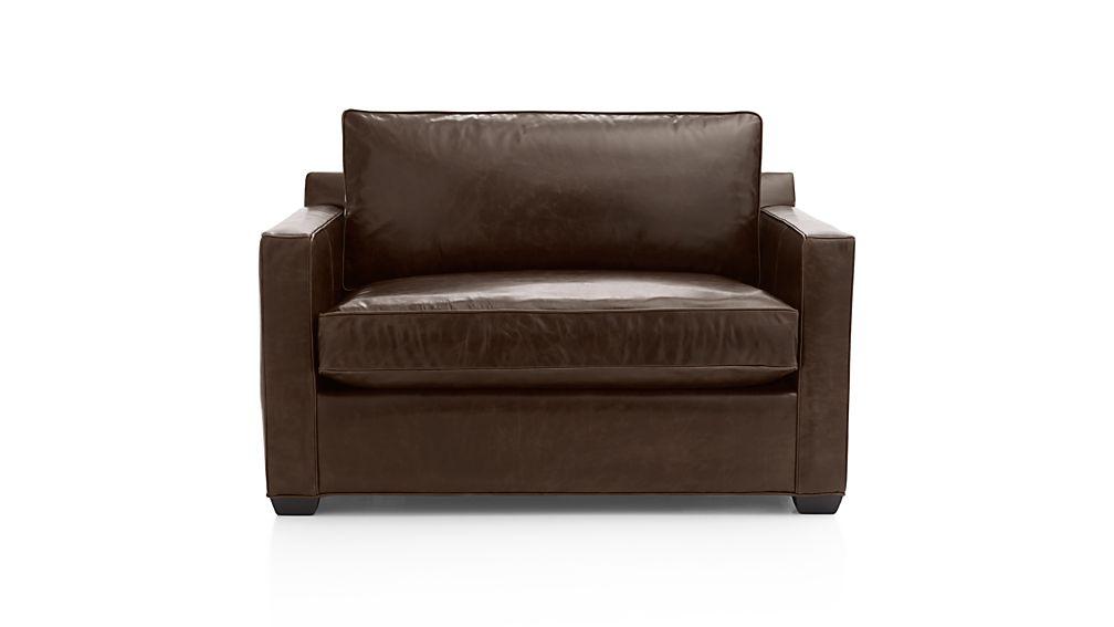 Davis Leather Twin Sleeper Sofa with Air Mattress