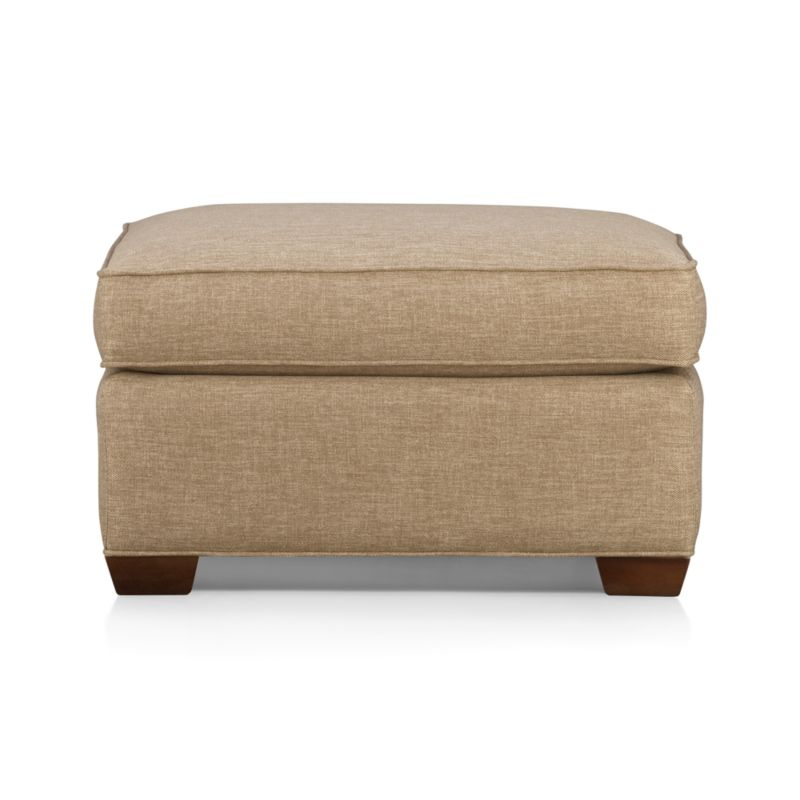 Davis ottoman crate and barrel for Crate and barrel pouf
