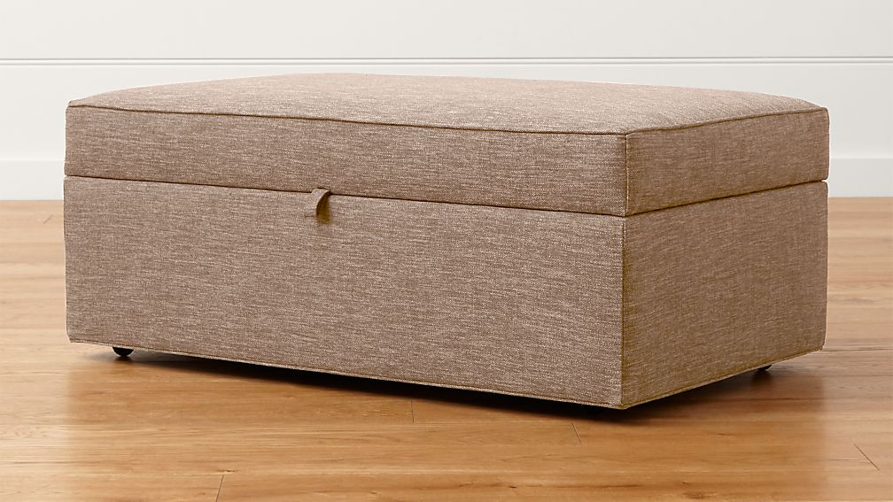 davis storage ottoman with tray darius mink crate and