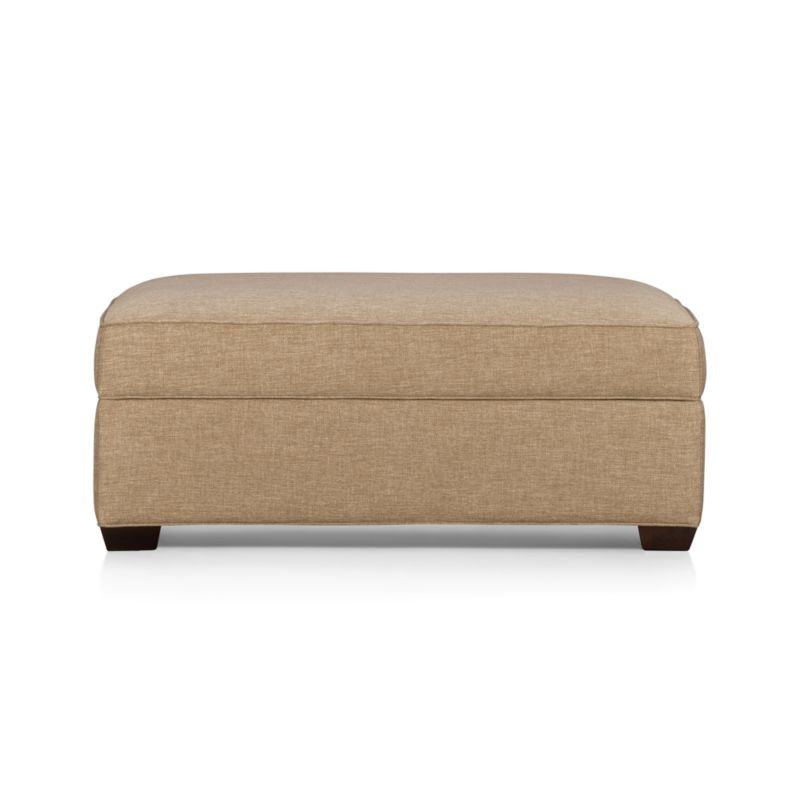 Davis storage ottoman crate and barrel for Crate and barrel pouf