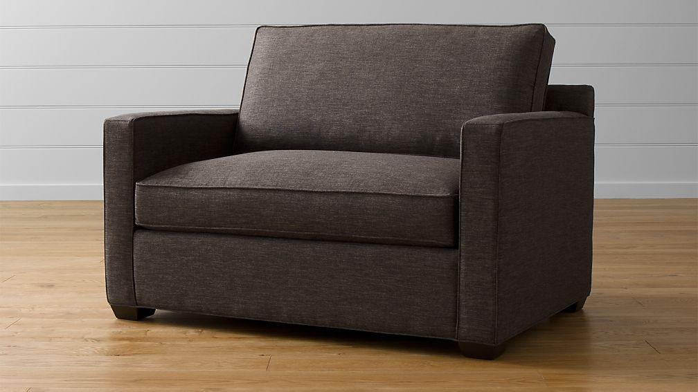 Davis Twin Sleeper Sofa Darius Graphite Crate And Barrel