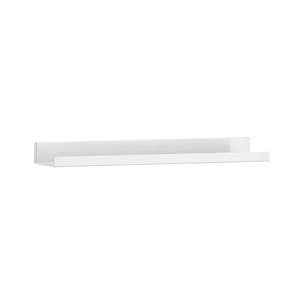 "Davis 24"" Brushed Silver Wall Shelf"
