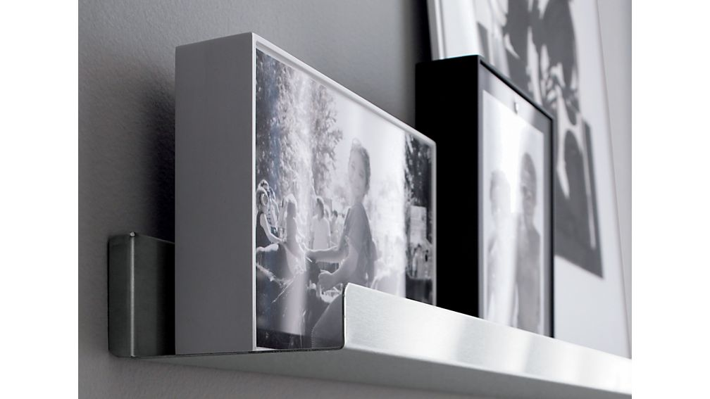 """Davis 24"""" Brushed Silver Wall Shelf"""