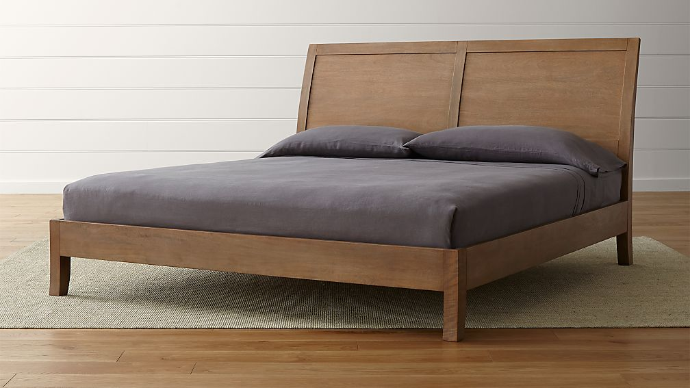 Dawson Grey Wash King Sleigh Bed
