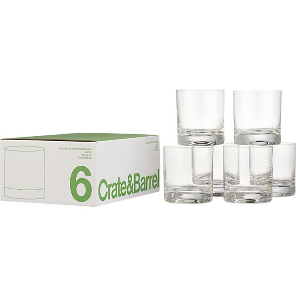 Set of 6 Double Old Fashioned Glasses