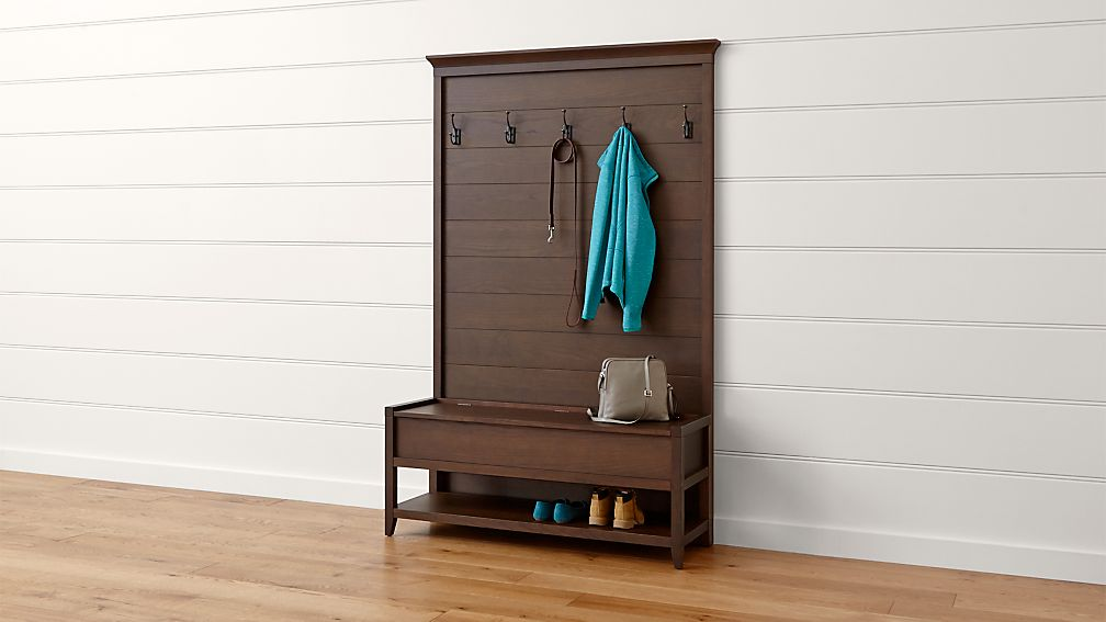 Dearborne Bench With Coat Rack Crate And Barrel
