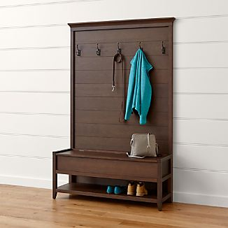 Dearborne Bench with Coat Rack