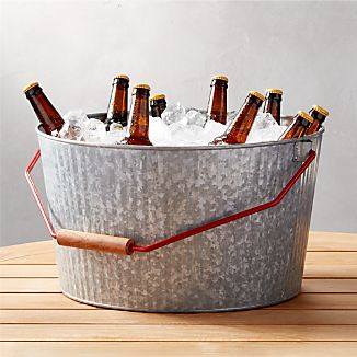 Decker Galvanized Beverage Tub