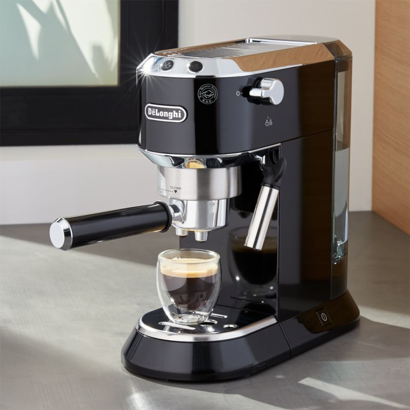 DeLonghi Dedica Slimline Black Espresso Maker Crate and Barrel