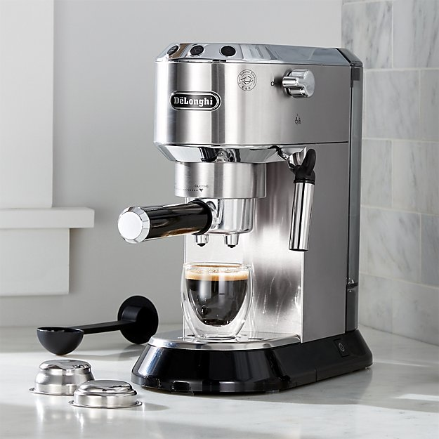 delonghi dedica slimline espresso maker crate and barrel. Black Bedroom Furniture Sets. Home Design Ideas
