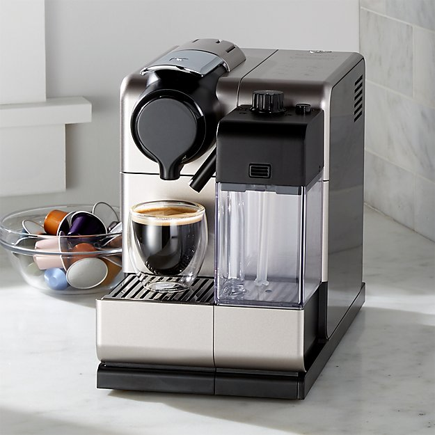 delonghi nespresso lattissima touch espresso maker crate and barrel. Black Bedroom Furniture Sets. Home Design Ideas