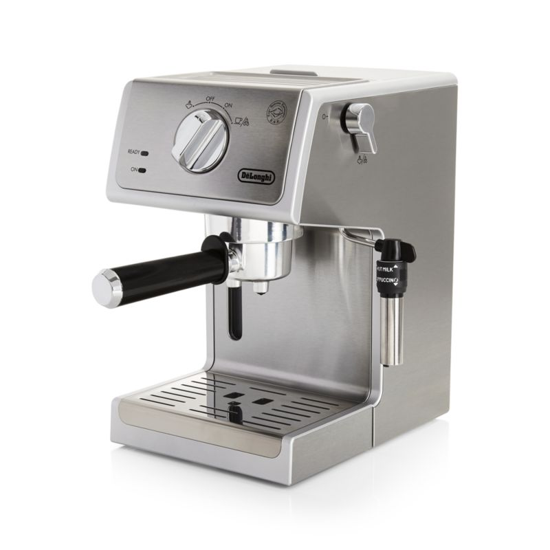 DeLonghi Stainless Steel Pump Espresso Maker Crate and Barrel