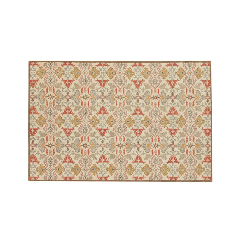 Delphine Orange Wool 6'x9' Rug