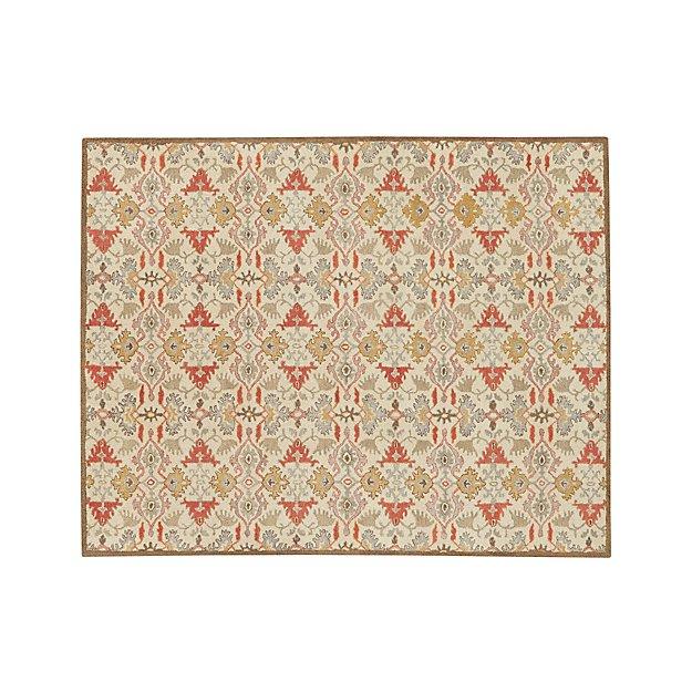 Delphine Orange Wool 8'x10' Rug
