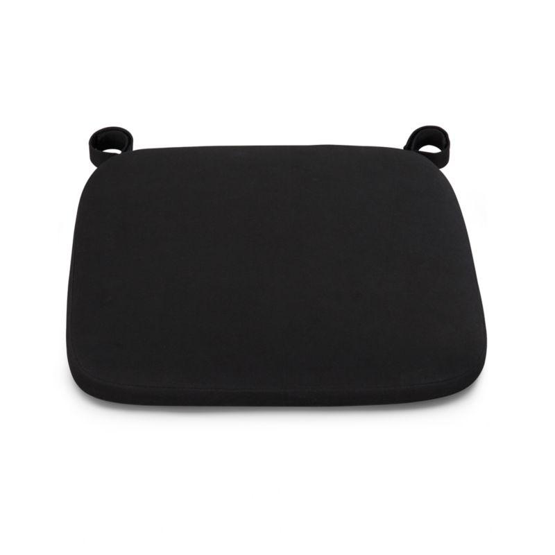 Our custom cushion in black features a contemporary box style.<br /><br /><NEWTAG/><ul><li>100% cotton cover</li><li>Machine wash</li><li>Fabric tab fasteners</li><li>Made in India</li></ul>