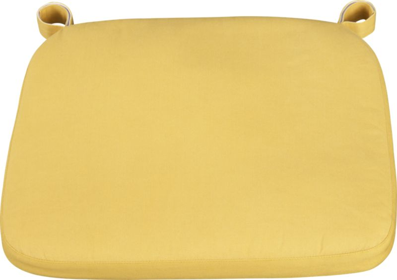 Our custom cushion in yellow features a contemporary box style.<br /><br /><NEWTAG/><ul><li>100% cotton cover</li><li>Machine wash</li><li>Fabric tab fasteners</li><li>Made in India</li></ul>