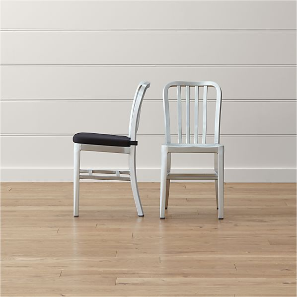 Delta Metal Dining Chair and Cushion