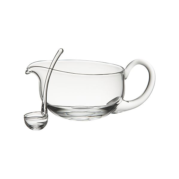 Deluxe Glass Gravy Boat with Ladle