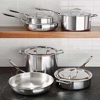 ZWILLING ® Demeyere 5-Plus Stainless Steel 10-Piece Cookware Set