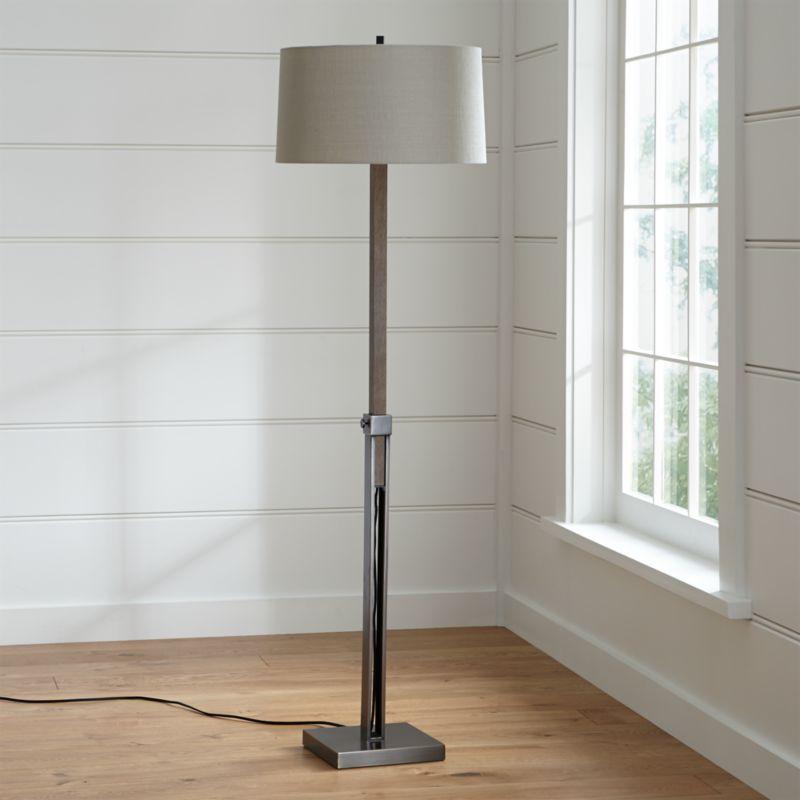 denley bronze floor lamp crate and barrel. Black Bedroom Furniture Sets. Home Design Ideas