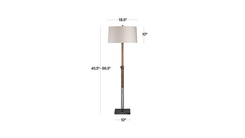 Denley bronze floor lamp crate and barrel for Bronze floor lamp base only
