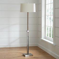 Denley Nickel Floor Lamp