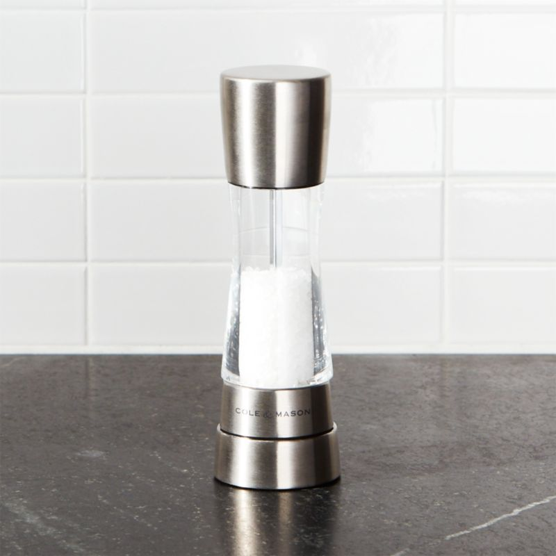 Cole & Mason ® Derwent Stainless Steel Adjustable Salt Mill