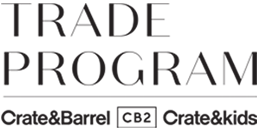 Crate and Barrel Design Trade Program
