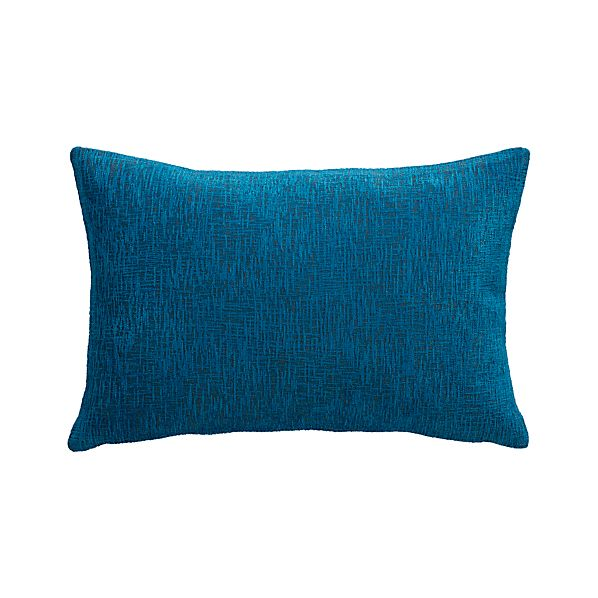 """Devin Blue 18""""x12"""" Pillow with Feather-Down Insert"""