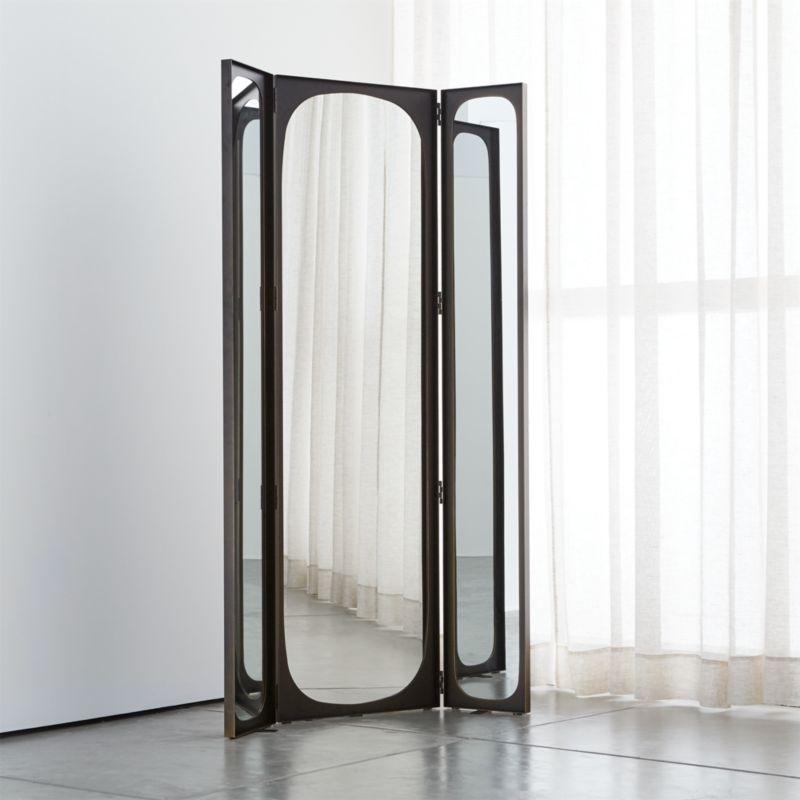 Devon Tri Fold Floor Mirror Crate And Barrel