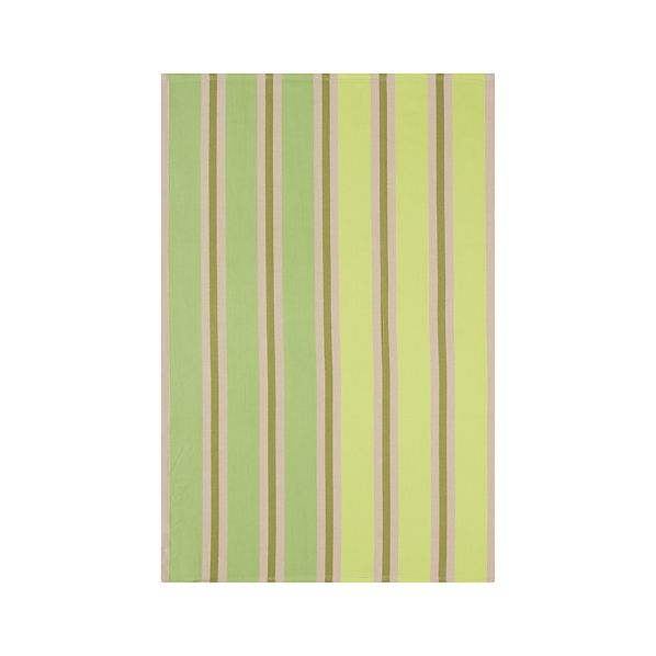 Devon Green Stripe Dishtowel