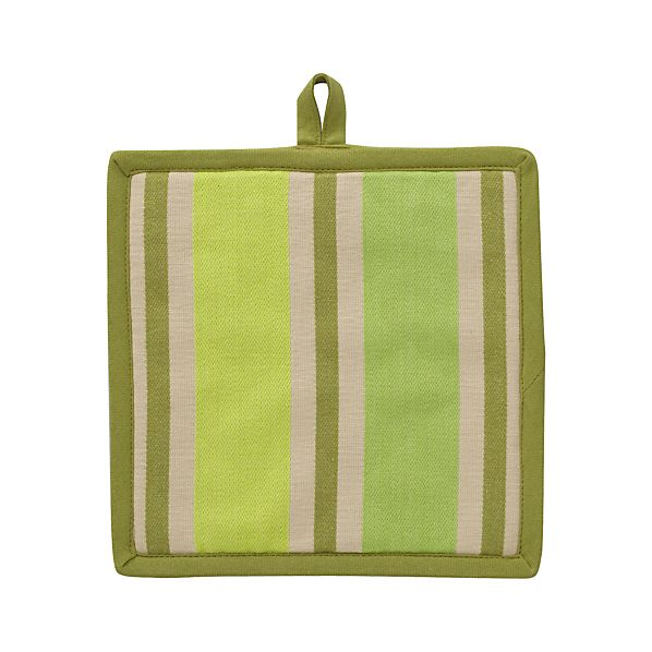 Devon Green Stripe Potholder