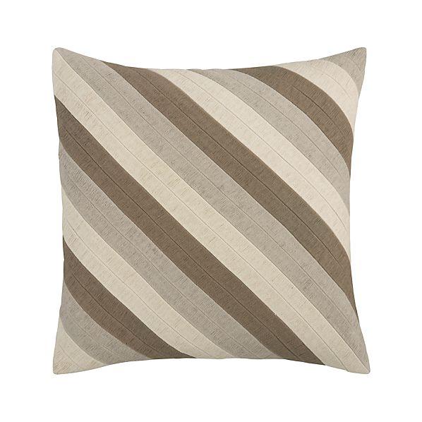 "Diagonal Neutral 20"" Pillow"