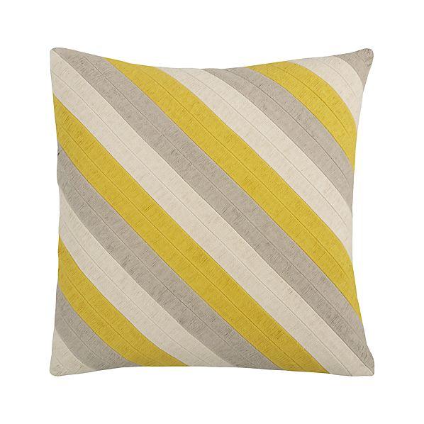 "Diagonal Yellow 20"" Pillow"