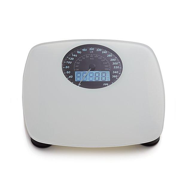 Digital White Bathroom Scale
