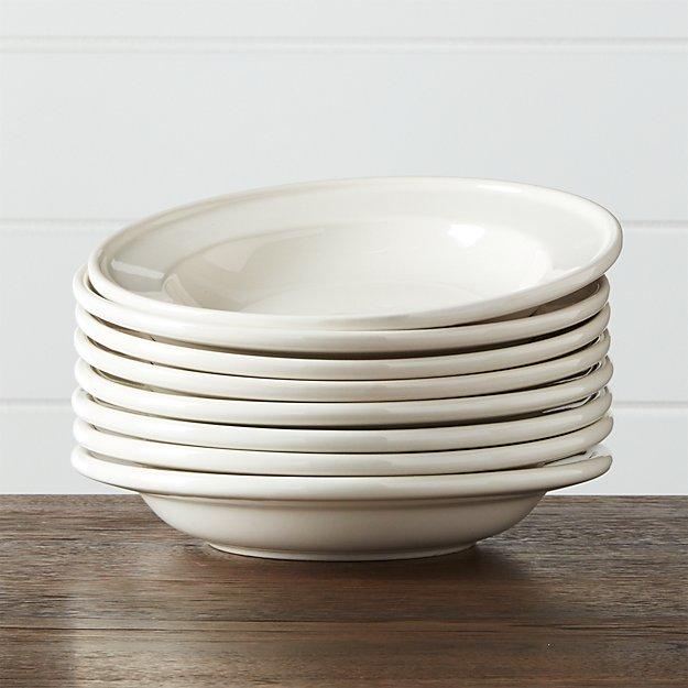 Set of 8 Dinette Low Bowls