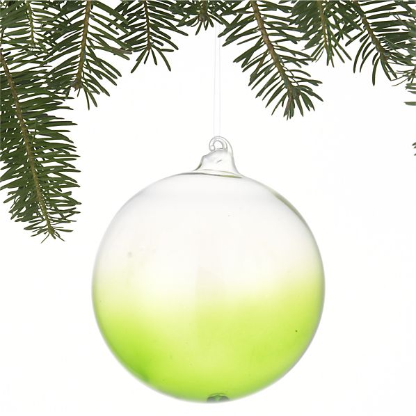 Dip-Dyed Apple Green Ball Ornament