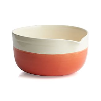 Dipped Orange Bowl with Spout