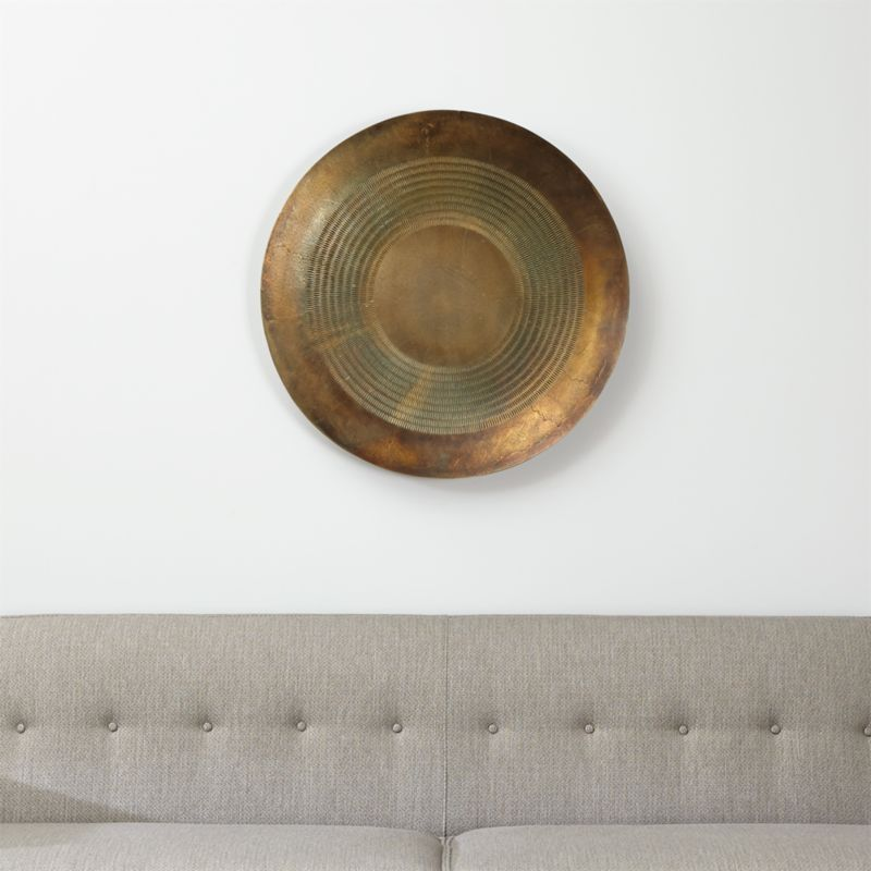 Disc Metal Wall Art | Crate and Barrel