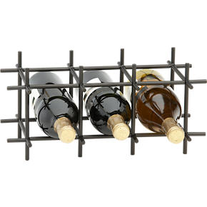 Division Bronze Six-Bottle Wine Rack -...