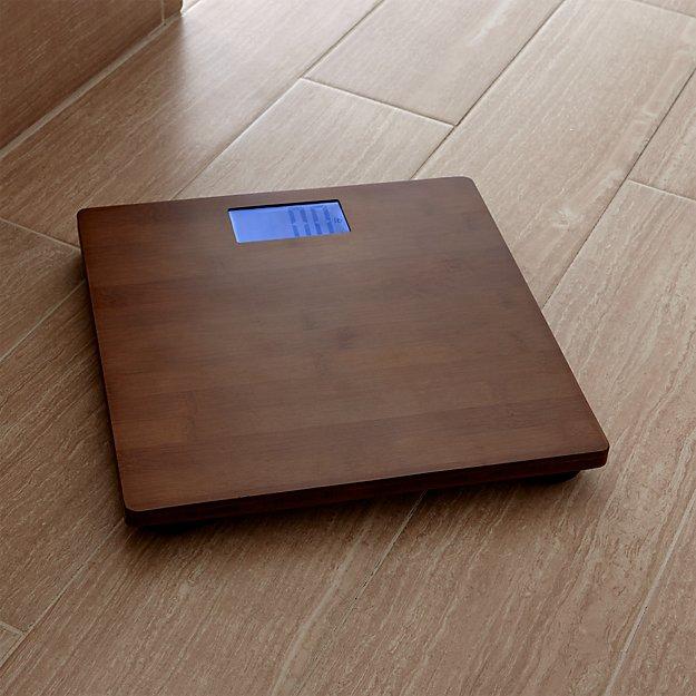 Dixon Bamboo Bathroom Scale