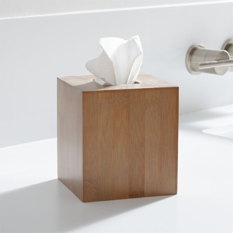 Dixon Bamboo Tissue Box Cover Crate And Barrel