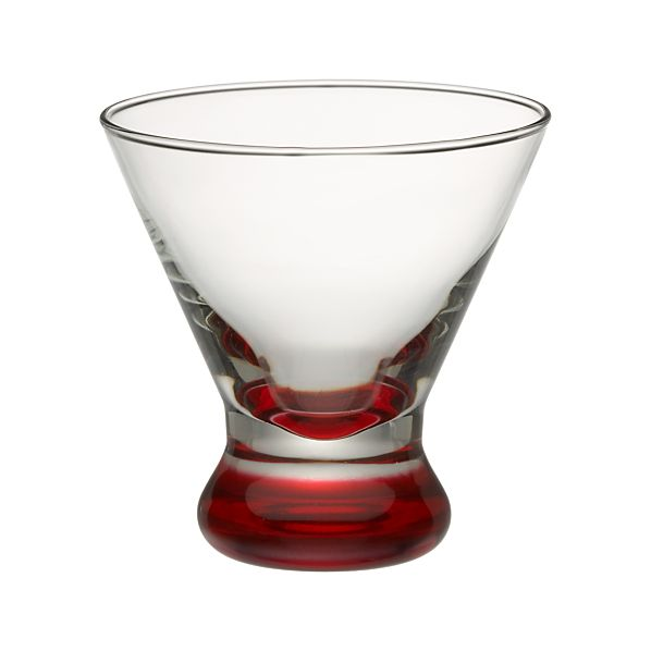 Dizzy Red Cocktail Glass