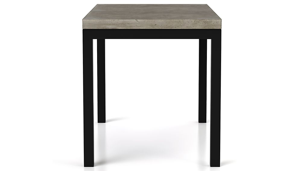 Concrete Top/ Natural Dark Steel Base 48x28 Parsons Dining Table