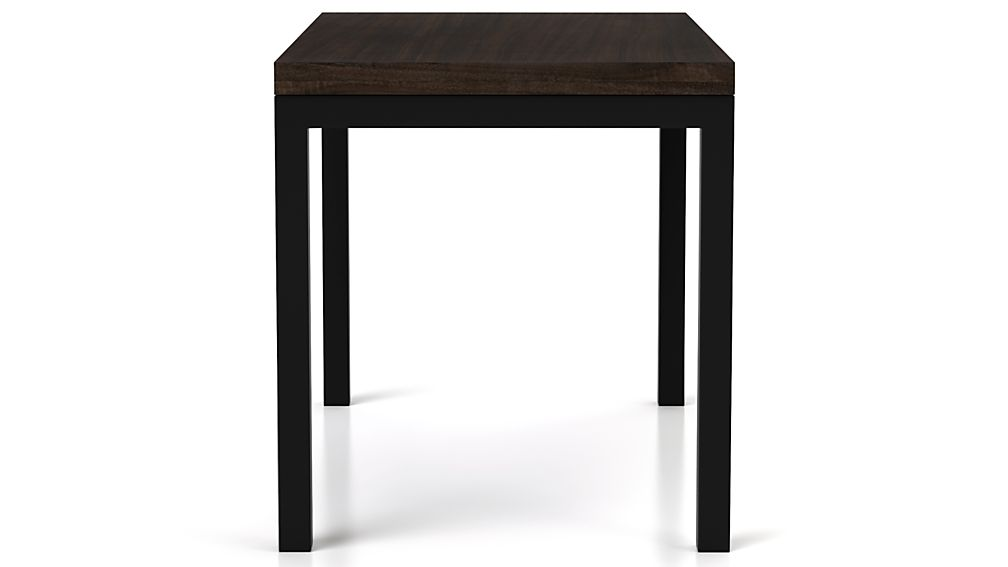 Myrtle Top/ Natural Dark Steel Base 48x28 Parsons Dining Table