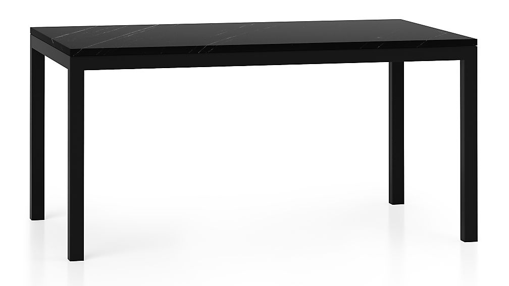 Parsons Black Marble Top/ Dark Steel Base 60x36 Dining Table